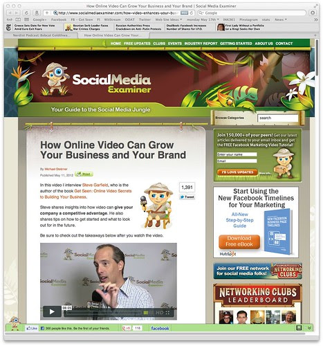 How Online Video Can Grow Your Business and Your Brand | Social Media Examiner by stevegarfield