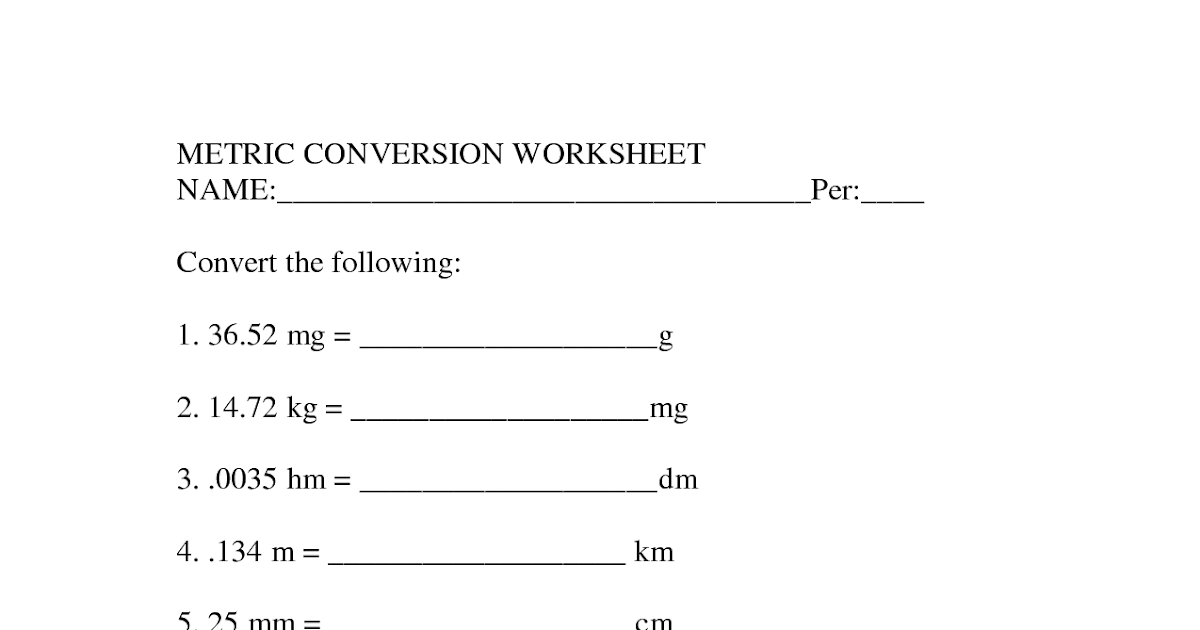 35 Metrics And Measurement Worksheet Answers Chemistry ...
