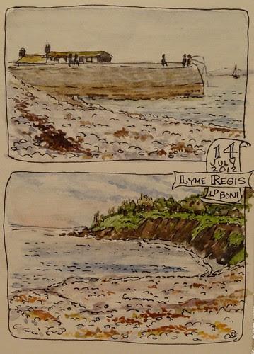 Lyme Regis, watercolor sketches