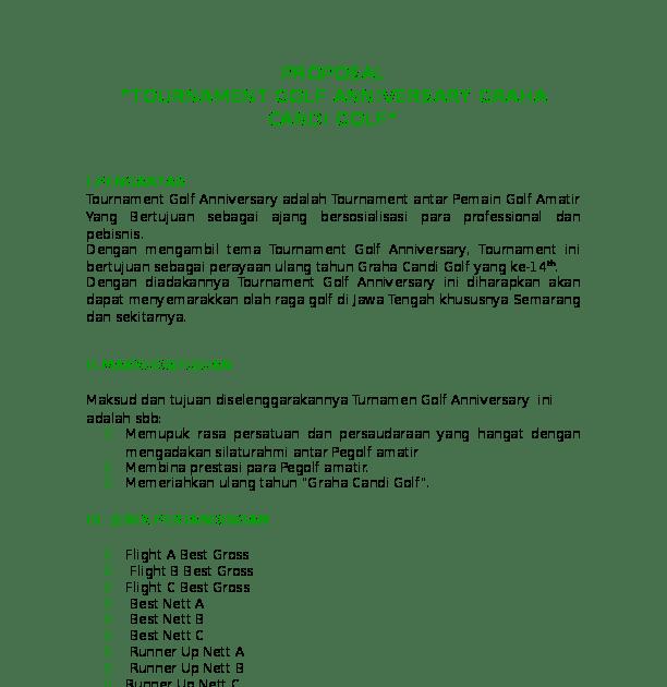 Contoh Proposal Sponsor Bank - Paud Berkarya