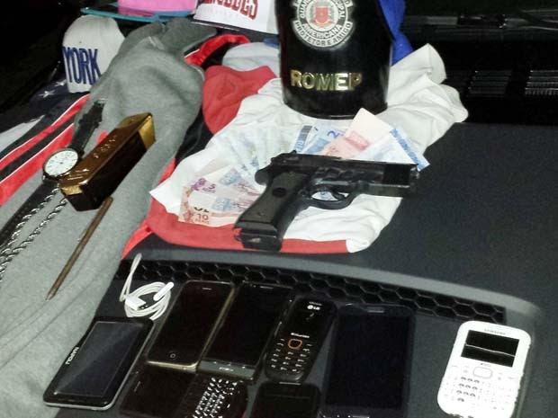 Quadrilha é presa suspeita de praticar série de roubos em Americana, SP (Foto: Guarda Municipal)
