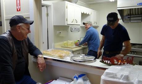 Norman,Flys,&Mark getting dinner started