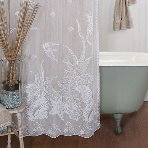 Beach style vinyl shower curtains lovely home interior for Household design 135 curtain road