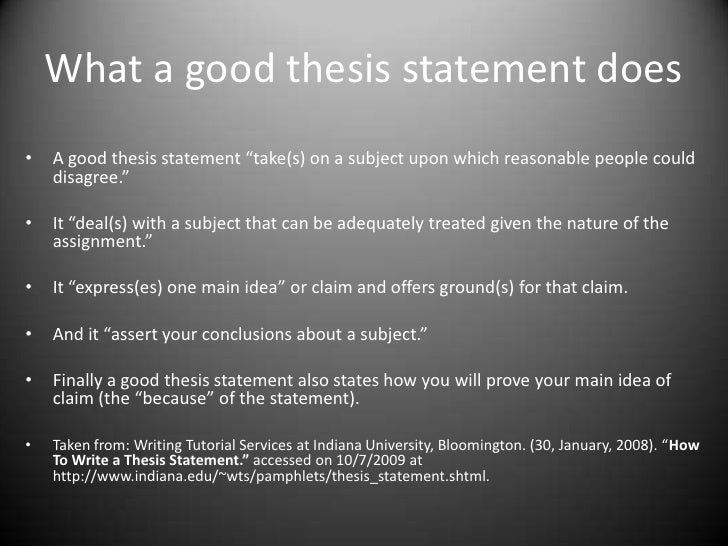 how to write a graduate thesis statement