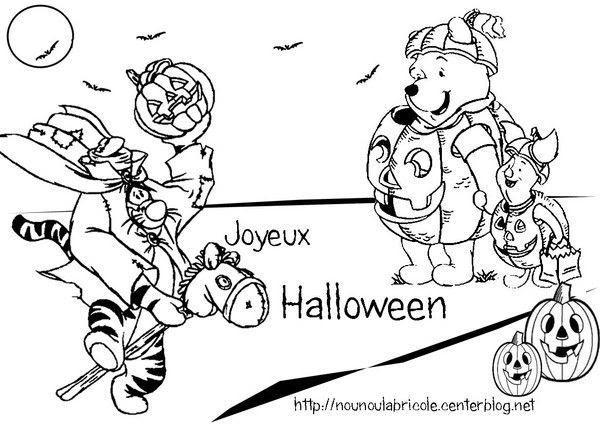 Coloriage Winnie Halloween