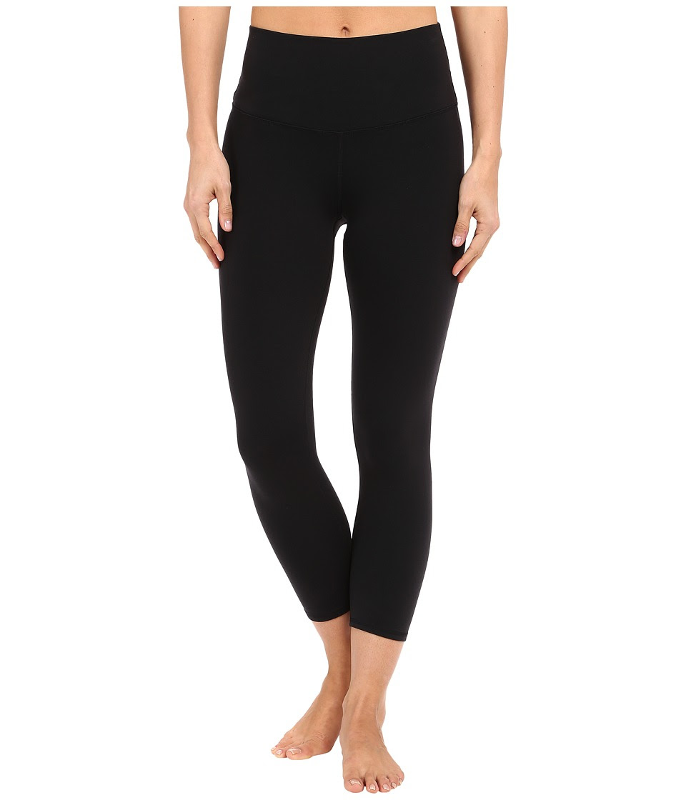 ALO - High Waist Airbrush Capris (Black) Women's Capri
