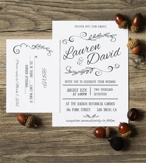 DIY Microsoft Word invitation templates that you can make