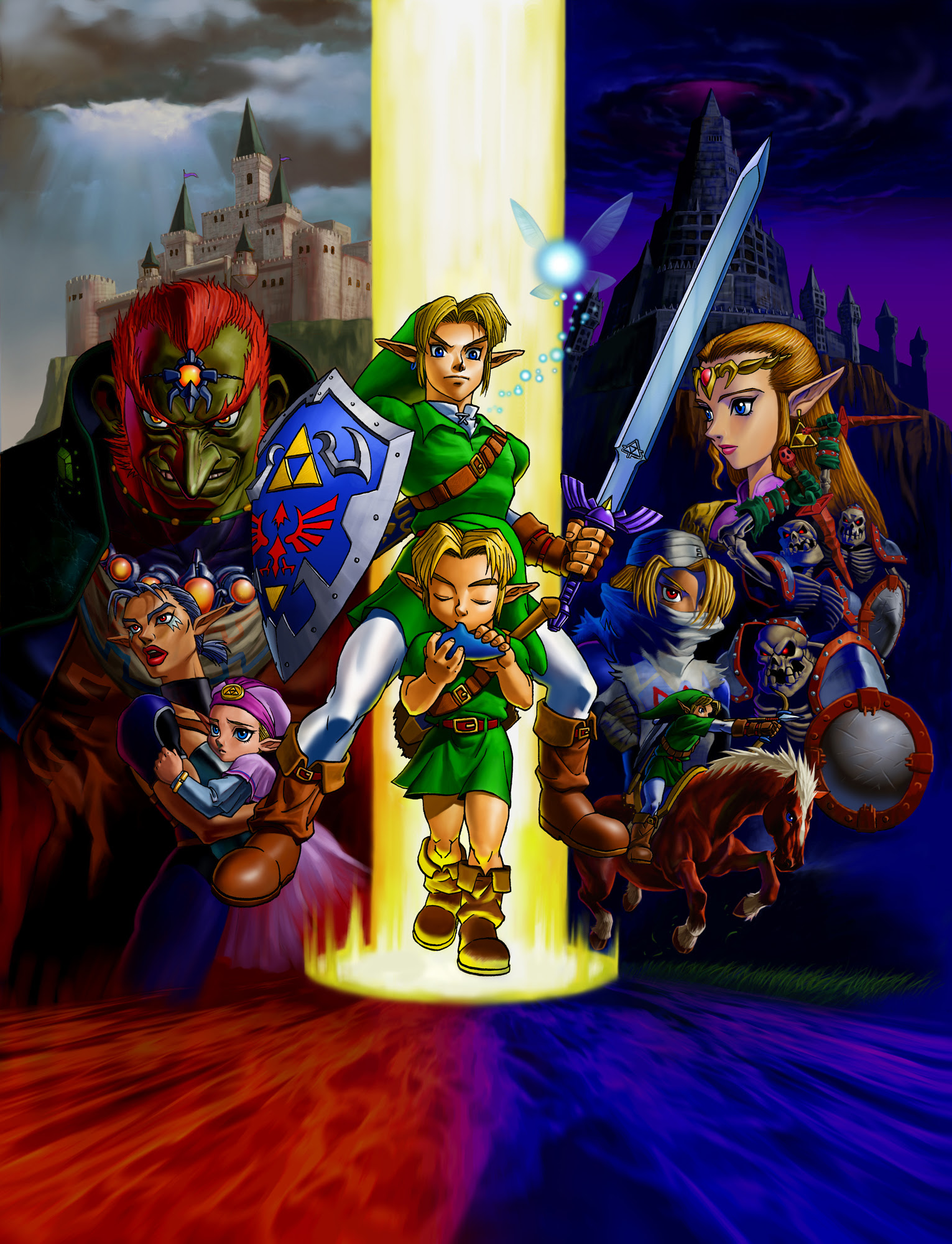 The Legend Of Zelda Ocarina Of Time Wallpaper And Scan Gallery
