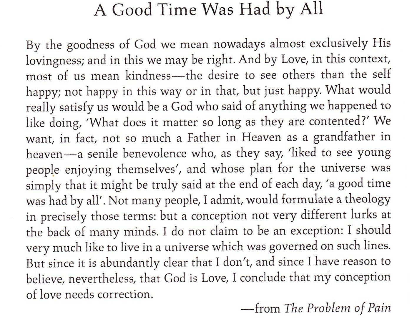 Pax On Both Houses Cs Lewis The Problem Of Pain And The