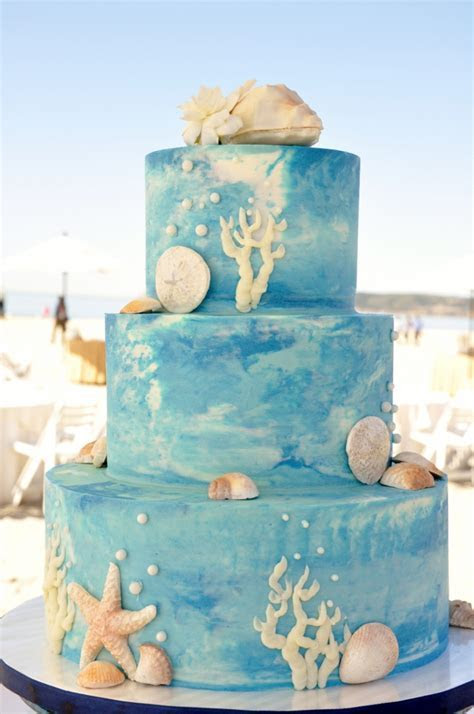 Beach Wedding Cakes on Pinterest   Beach Cakes, Starfish