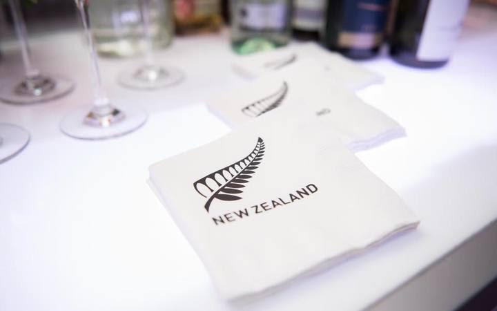 NZ-branded napkins at the Washington gala.