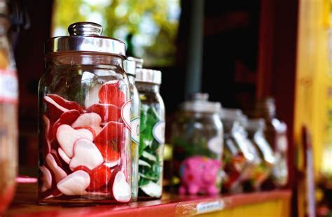 Free picture: jar, candy, glass, shelf, heart