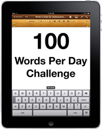 100 Words Per Day Challenge (cc) Douglas Cootey
