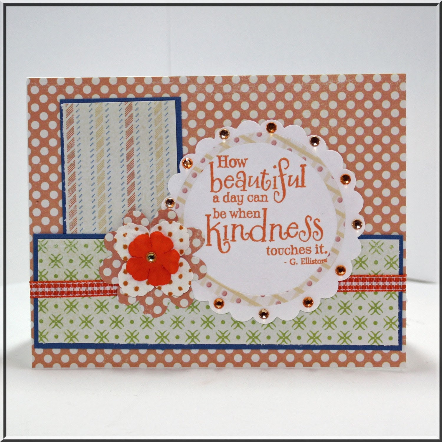 Kindness quote handmade greeting card note card