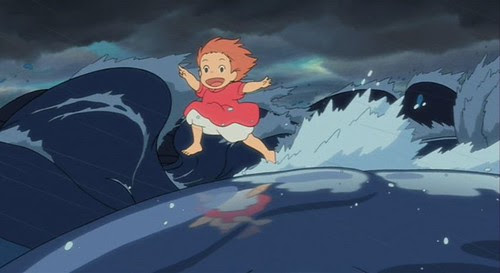 Ponyo-A-3 running on water
