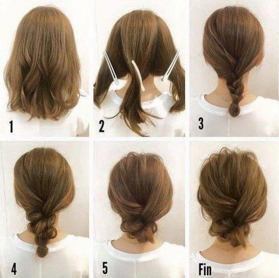 Semirecogidos Peinados Recogidos Para Cabello En Capas