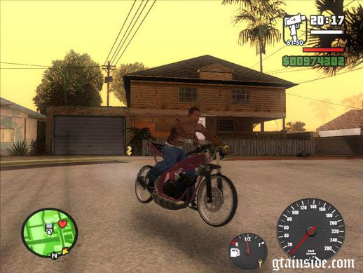 Download GTA San Reas Mod Motor Drag Ninja