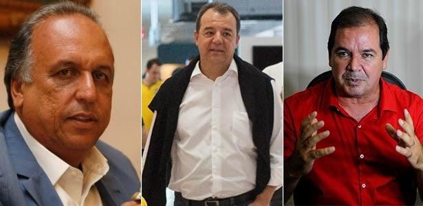 O governador do Rio de Janeiro, Luiz Fernando Pezão (PMDB), o ex-governador do Rio de Janeiro, Sérgio Cabral (PMDB) e o governador do Acre, Tião Viana (PT), que serão investigados por suposta ligação com crimes da Operação Lava Jato