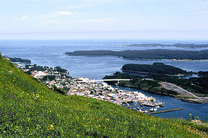 View of Kodiak from Pillar Mountain