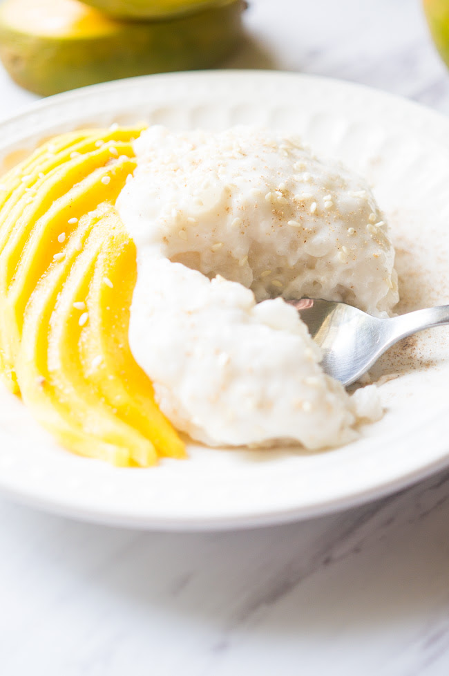 Mango Sticky Rice with Coconut Cream - Kitschen Cat