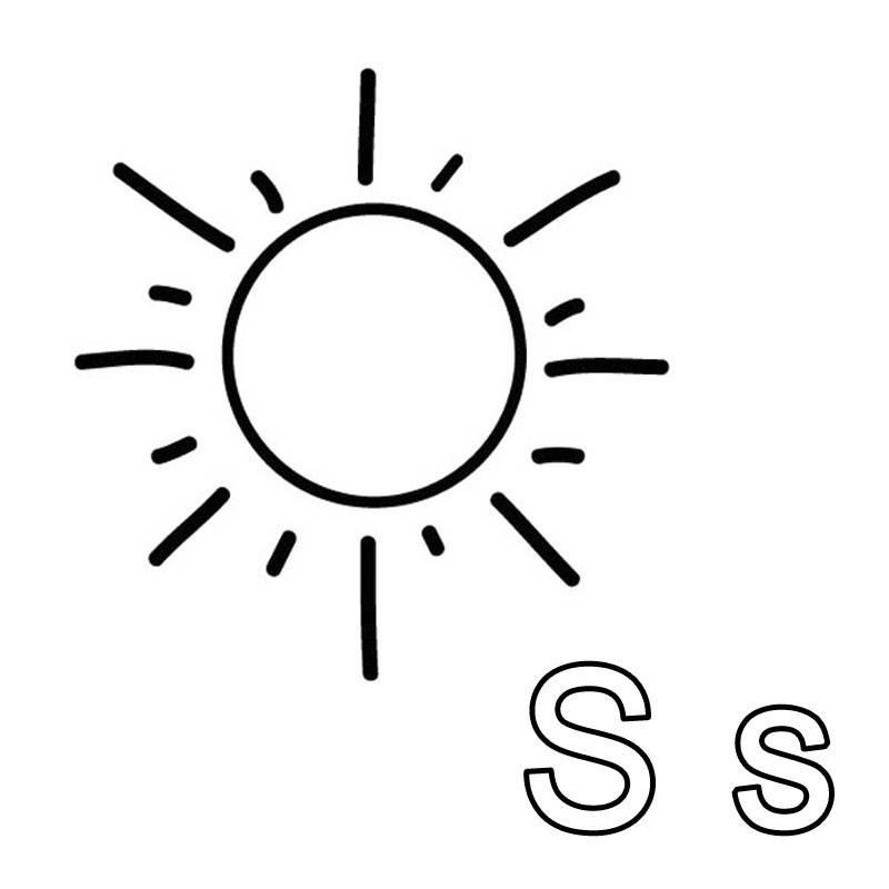 Kostenlose Malvorlage Buchstaben lernen: Ausmalbild S zum ...