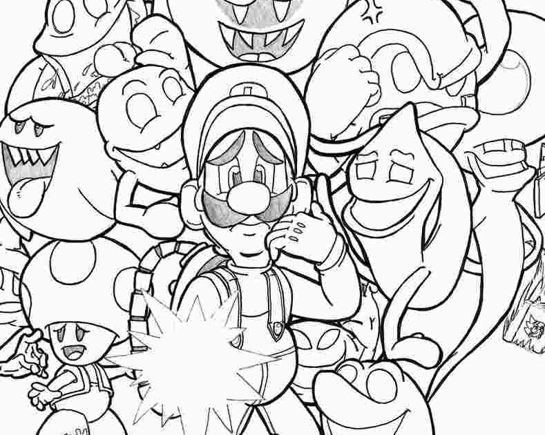 Luigi S Mansion 3 Coloring Pages To Print - Jesyscioblin