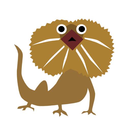 エリマキトカゲの無料イラストオーフリー写真素材