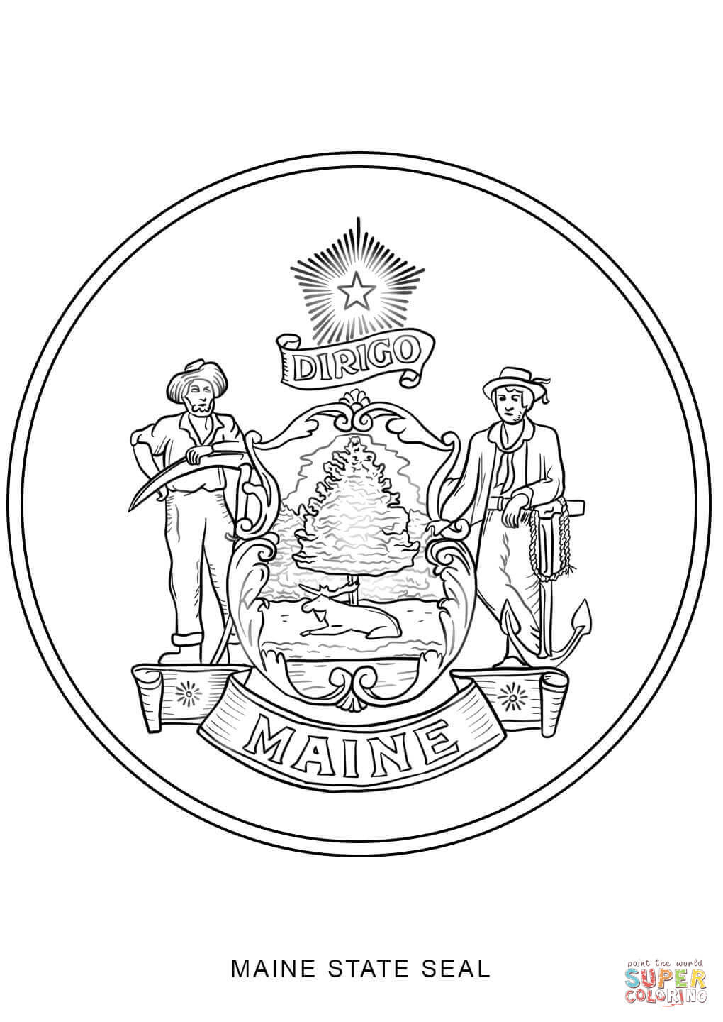 nc state seal coloring pages - photo#16