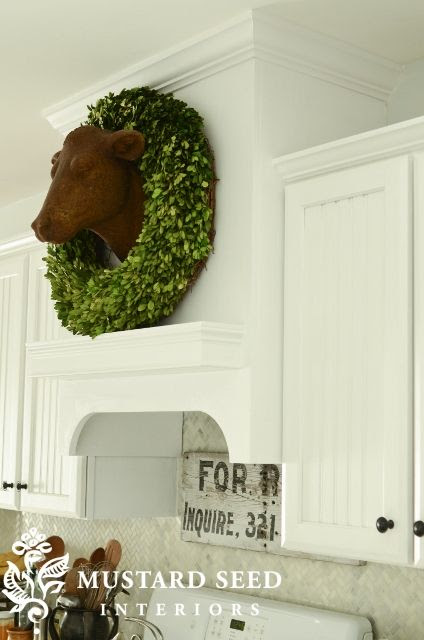 Tidbits&Twine Boxwood Wreath Kitchen