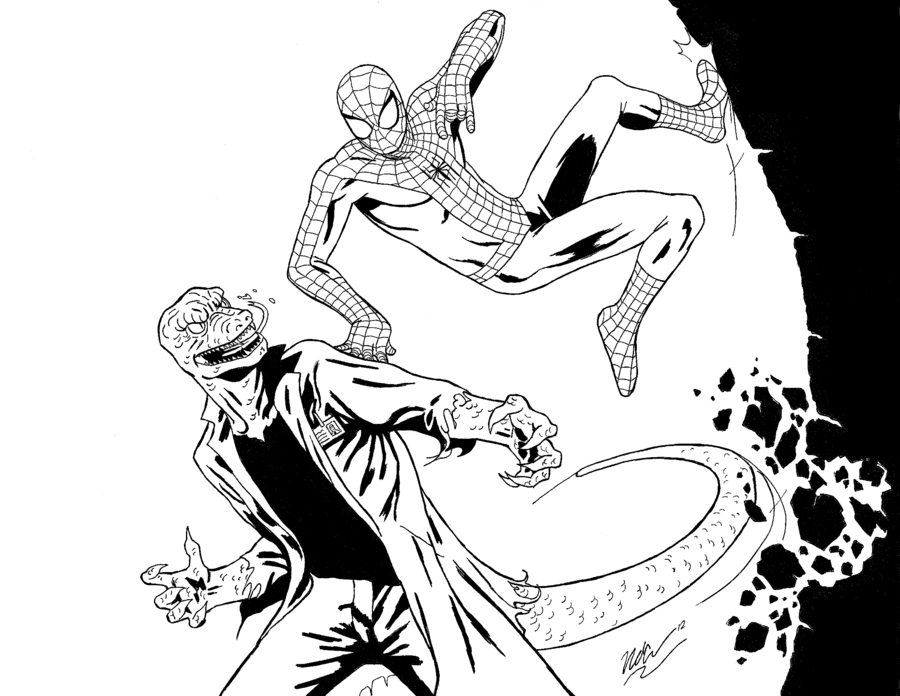 470 Spider Man Lizard Coloring Pages , Free HD Download