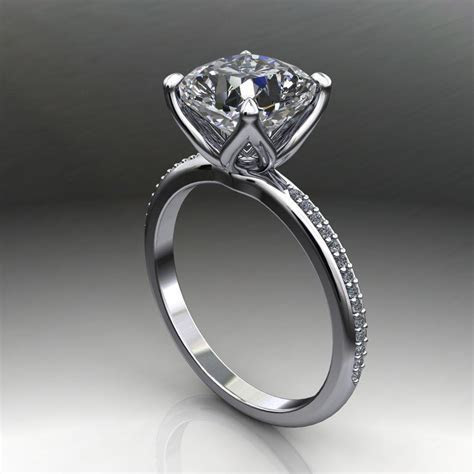 charlize ring   2.5 carat cushion cut forever one