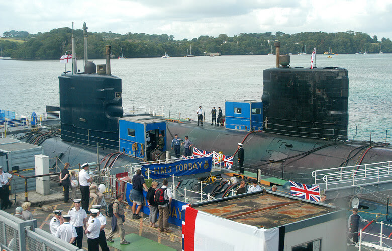 Probably the last time a RN submarine was open to the general public. HMS Torbay, Devonport 2006