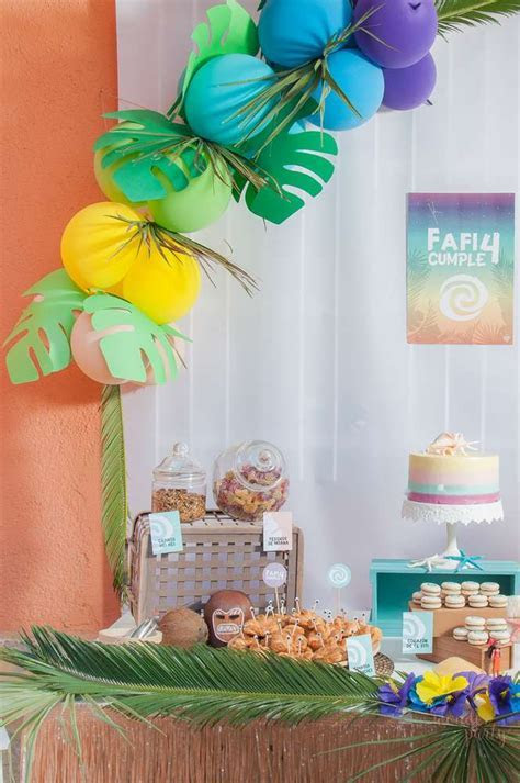 Moana Tropical Birthday Party   Birthday Party Ideas & Themes