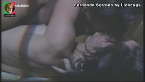 Fernanda Serrano nua e sensual na novela Grande Aposta
