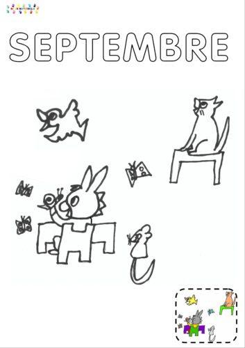 La Rentrée De Trotro Page Du Mois De Septembre Du Cahier Mc En