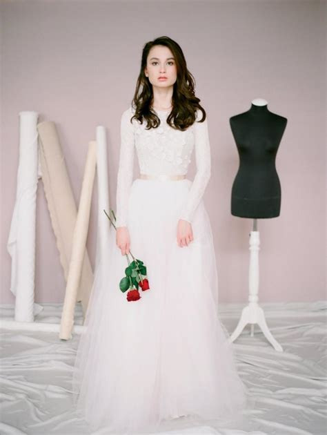 Amy // Lace Wedding Dress / Wedding Gown With Long Sleeves