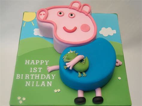 2D George Pig & Dinosaur   Celebration Cakes   Cakeology