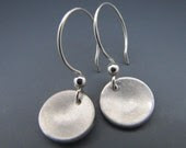Small Brushed Disk Earrings
