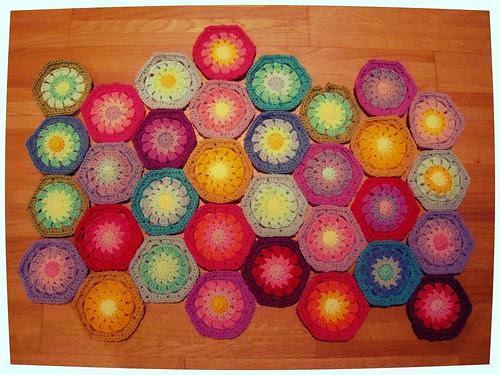 Hexagons round four