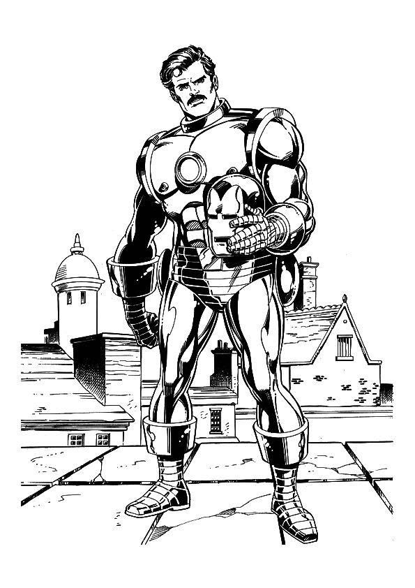 Kids-n-fun.com   60 coloring pages of Iron Man