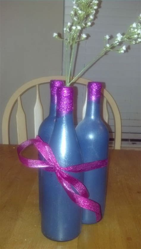 My DIY Spray painted wine bottle (non floral) Centerpieces