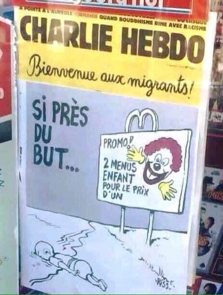 """""""Bem vindos, imigrantes. Promoção: dois menus crianças pelo preço de um"""""""