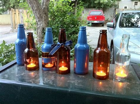 Beer bottle decoration ideas/prototypes.   Price Geiss