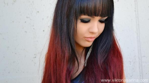 Ochfiline Braune Haare Mit Roten Spitzen