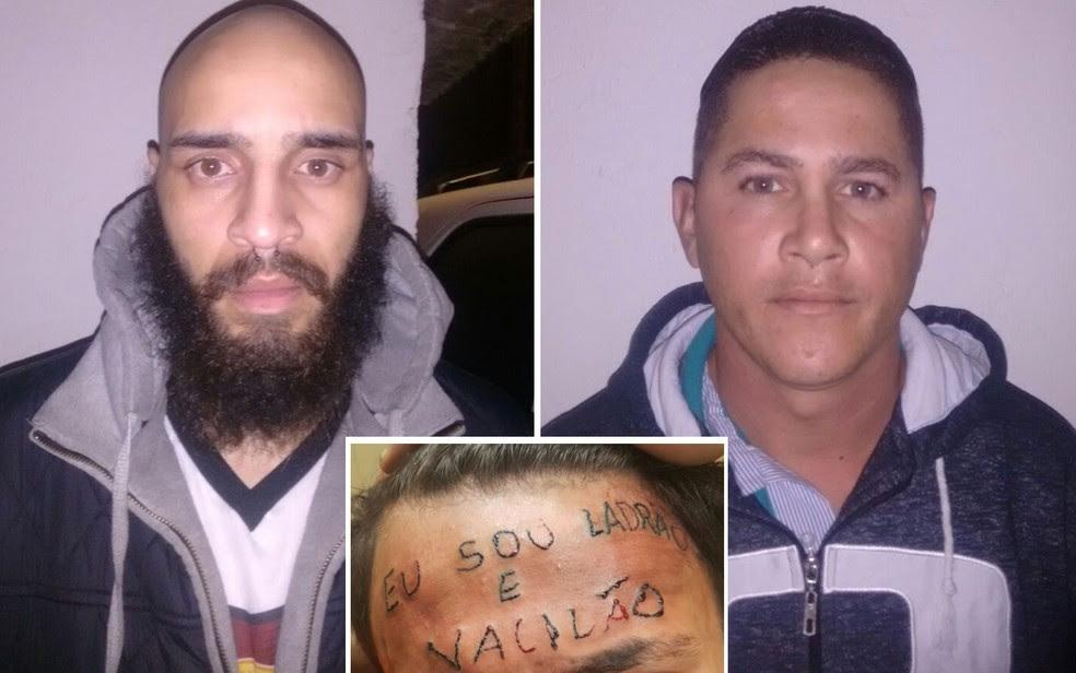 O tatuador Maycon Reis e o vizinho Ronildo Moreira foram presos por torturar adolescente em São Bernardo do Campo (Foto: Divulgação/Polícia civil)