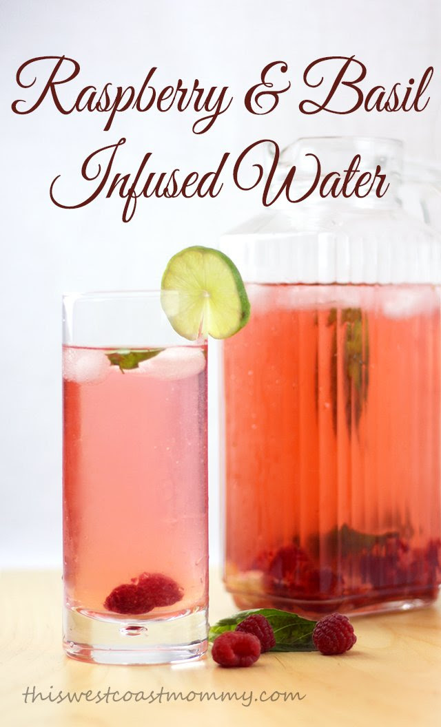 Raspberry & Basil Infused Water - delicious, refreshing, and good for you!