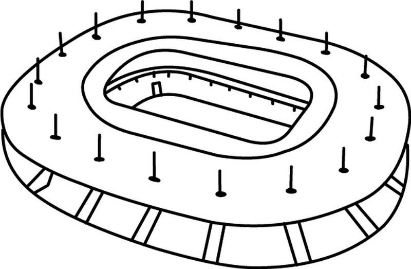 Disegno Da Colorare Squadra Di Calcio Francese Stade De France 1