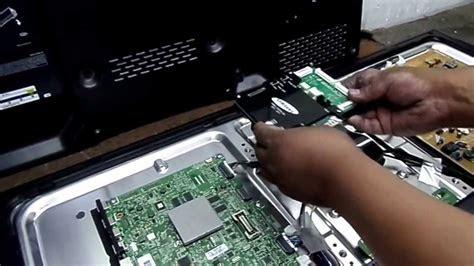 reparacion tv ledlcd usando modulo spc  youtube
