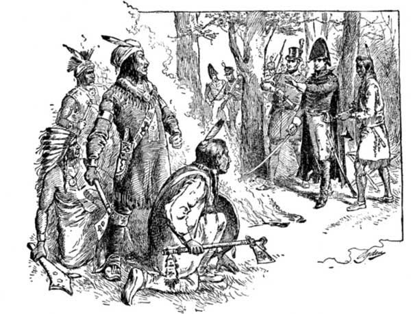 HARRISON'S COUNCIL WITH TECUMSEH AT VINCENNES