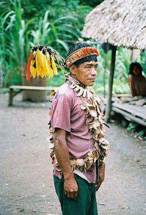 Urarina shaman in the Peruvian Amazon, 1988.